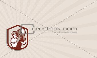 Business card Electrical Lighting Technician Carry Spotlight Shield