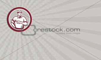 Business card Tiler Plasterer Mason Masonry Worker Circle