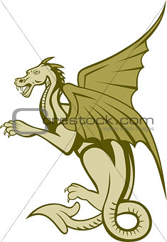 Green Dragon Full Body Cartoon