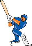 India Cricket Player Batsman Batting Cartoon