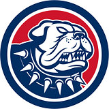 Angry Bulldog Dog Mongrel Head Mascot