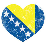 Bosnia and Herzegovina retro heart flag