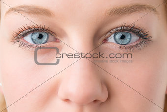 Closeup woman eyes