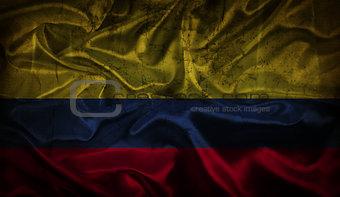 Grunge Colombian flag background