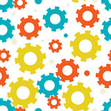 seampless background with gears