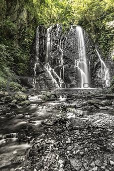 Waterfall Pevereggia, Switzerland