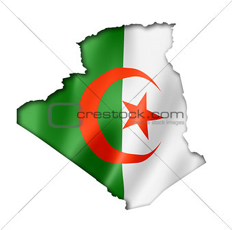 Algerian flag map