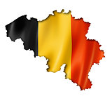Belgian flag map