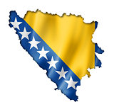 Bosnia and Herzegovinan flag map