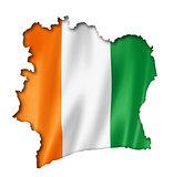 Ivorian flag map