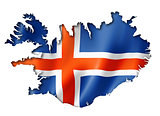 Icelandic flag map