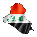Iraqi flag map