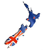 New Zealand flag map