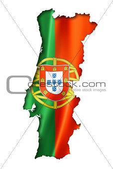 Portuguese flag map