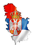 Serbian flag map