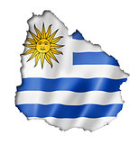 Uruguaian flag map
