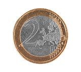 Fake euro coin, 2 euro