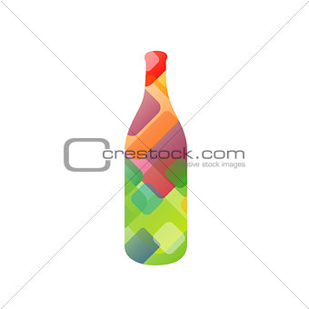 Bottle with circles
