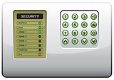 The panel of the security system