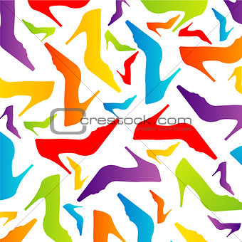 Colorful shoe background
