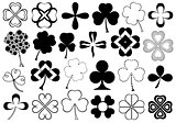 Set of different clovers set