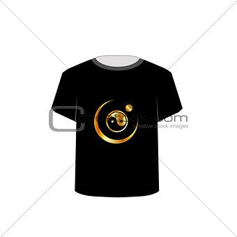 T Shirt Template- yin yang symbol