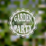 Vector Garden Party Invitation