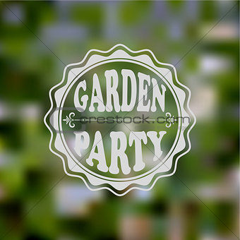 Vector Garden Party Invitation