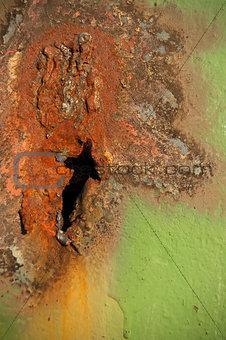 Background of peeled paint