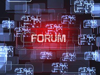 Forum screen concept