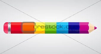 Rainbow Pencil Vector Illustration