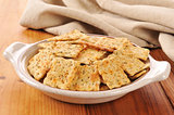 Herb flavored crackers