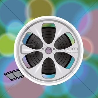 cinema film tape on disc