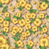 abstract seamless floral background with spring ornament