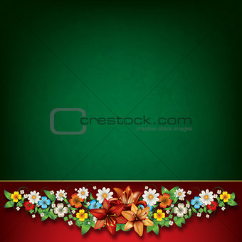 abstract spring floral composition
