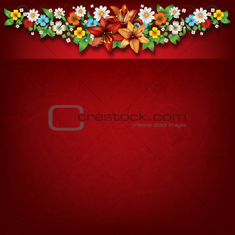 abstract spring floral background with flowers