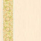 beige wallpaper with floral ornament