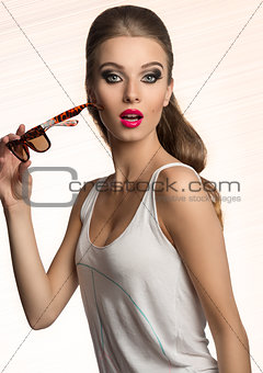 surprised fashion woman