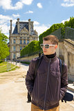 traveler young man in Paris