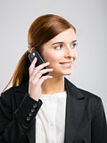 Business woman making phone call
