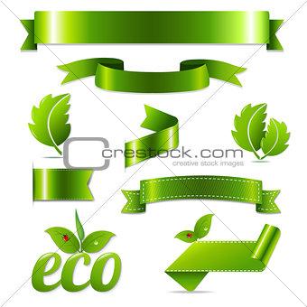 Green Eco Symbols Set