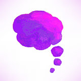 Lilac Watercolor Speech Bubble