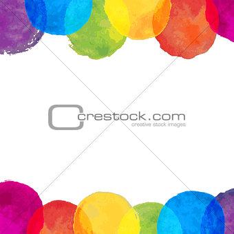 Watercolor Blot Frame