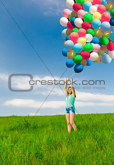 Girl with Ballons