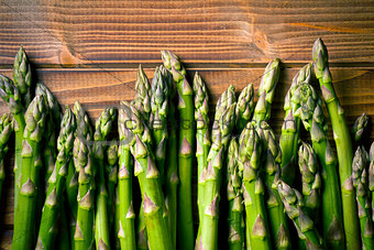 top view of green asparagus