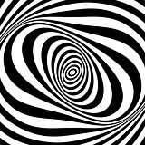 Whirl movement illusion. Op art design. .