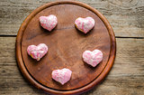 Sweet hearts on Valentine's Day celebration