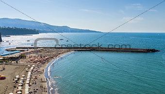 beautiful beach in Sorrento Italy