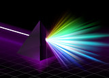 Pyramid on Colorful Spectrum Background
