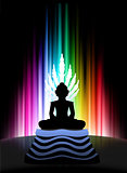Buddha on Abstract Spectrum Background